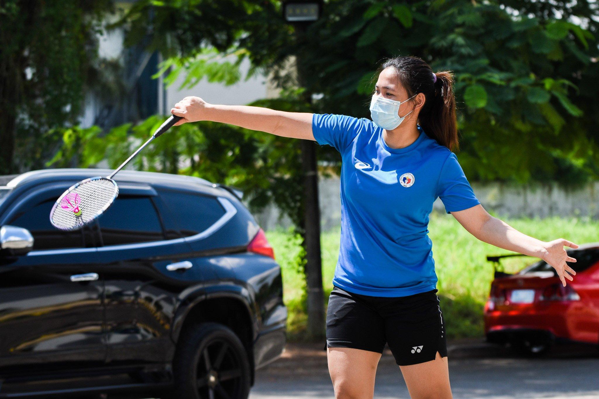 Airbadminton-Sarah-Barredo-2 Smash Pilipinas' Pedrosa, Barredo try airbadminton Air Badminton News  - philippine sports news