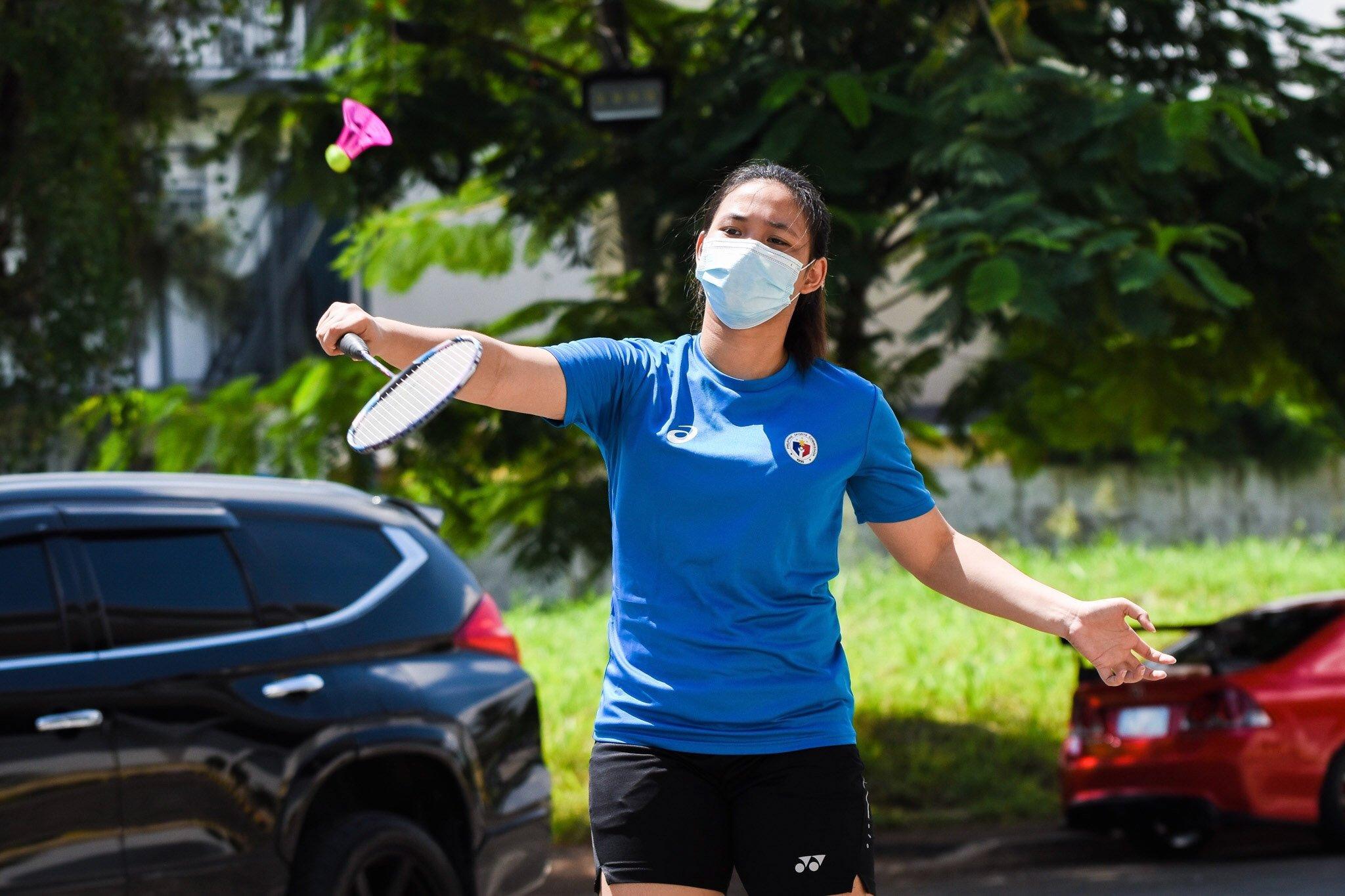 Airbadminton-Sarah-Barredo Smash Pilipinas' Pedrosa, Barredo try airbadminton Air Badminton News  - philippine sports news