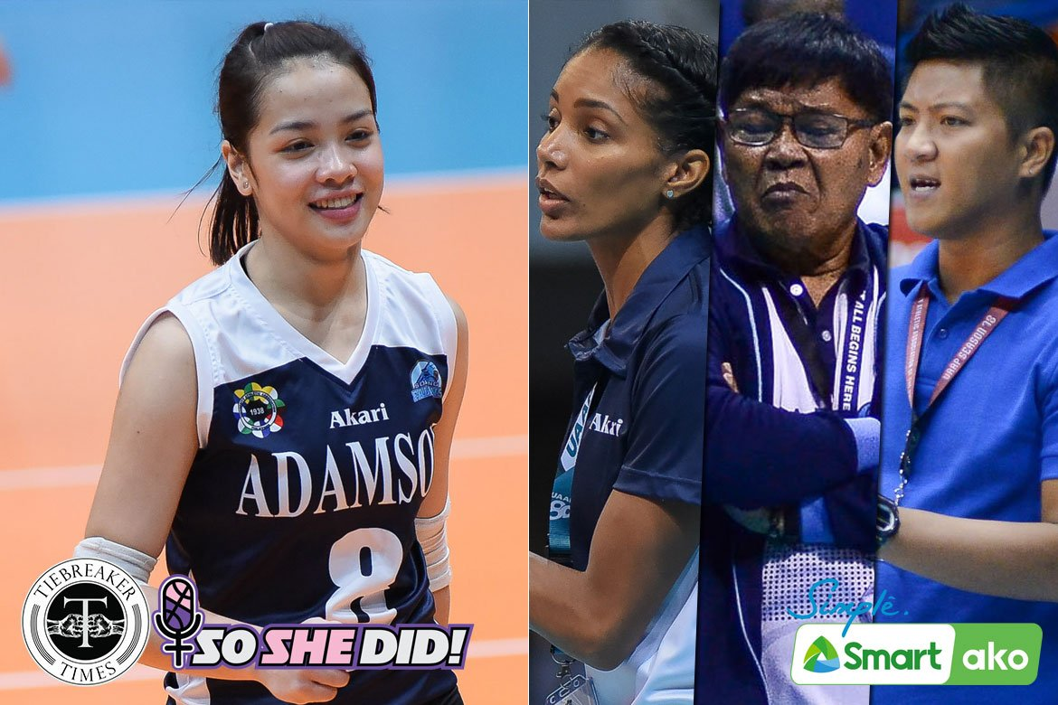 Tiebreaker Times What Jema Galanza learned from her three Adamson coaches AdU News PVL Volleyball  Tai Bundit Sherwin Meneses Domeng custodio Creamline Cool Smashers Air Padda Adamson Women's Volleyball 2020 PVL Season