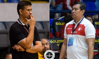 Tiebreaker Times SOURCES: UST eyes both Cantonjos, Ballesteros as Growling Tigers coaches Basketball News UAAP UST  UST Men's Basketball UAAP Season 83 Men's Basketball UAAP Season 83 Estong Ballesteros Chris Cantonjos