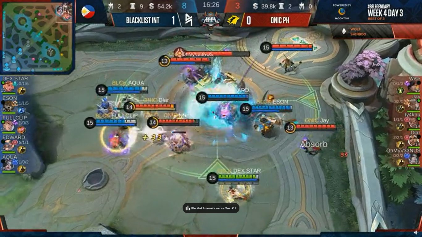 Tiebreaker Times Edward, FULLCLIP link up as Blacklist upsets ONIC PH in MPL ESports Mobile Legends News  ONIC PH Omega PH NXP Solid MPL-PH Season 6 FULLCLIP Edward Dlar BSB BNK Blufire Blacklist International