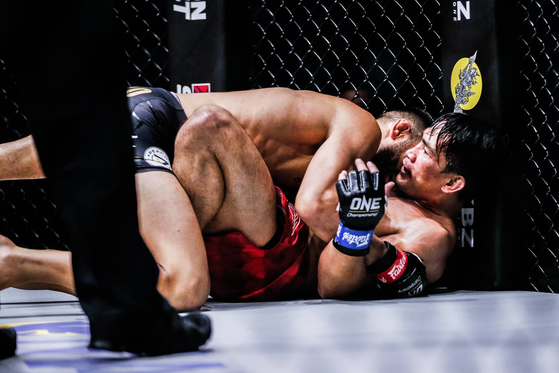 ONE-Inside-The-matrix-Caruso-takes-down-Folayang After gallant stand vs Caruso, retirement still far from Folayang's mind Mixed Martial Arts News ONE Championship  - philippine sports news
