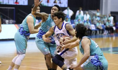Tiebreaker Times Just how much has Calvin Abueva changed? He lends Tony Semerad a helping hand Basketball News PBA  Phoenix Super LPG Fuel Masters PBA Season 45 Coronavirus Pandemic Calvin Abueva Anthony Semerad