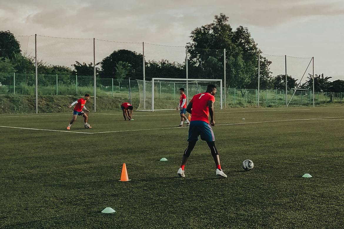 PFL-2020-Carmona-training Season of uncertainty ends on a high for PFL Football News PFL  - philippine sports news