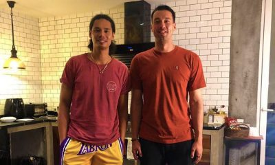 Tiebreaker Times Reunion? Greg Slaughter sends off Japeth as Aguilar heads to PBA bubble Basketball News PBA  PBA Season 45 Japeth Aguilar Greg Slaughter Coronavirus Pandemic Barangay Ginebra San Miguel