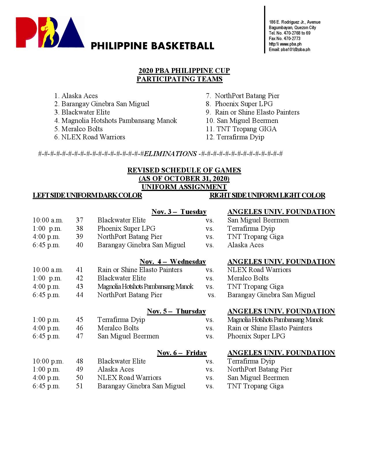 PBA-Season-45-revised-sched-1 Five quadruple-headers added to compressed PBA bubble sched Basketball News PBA  - philippine sports news