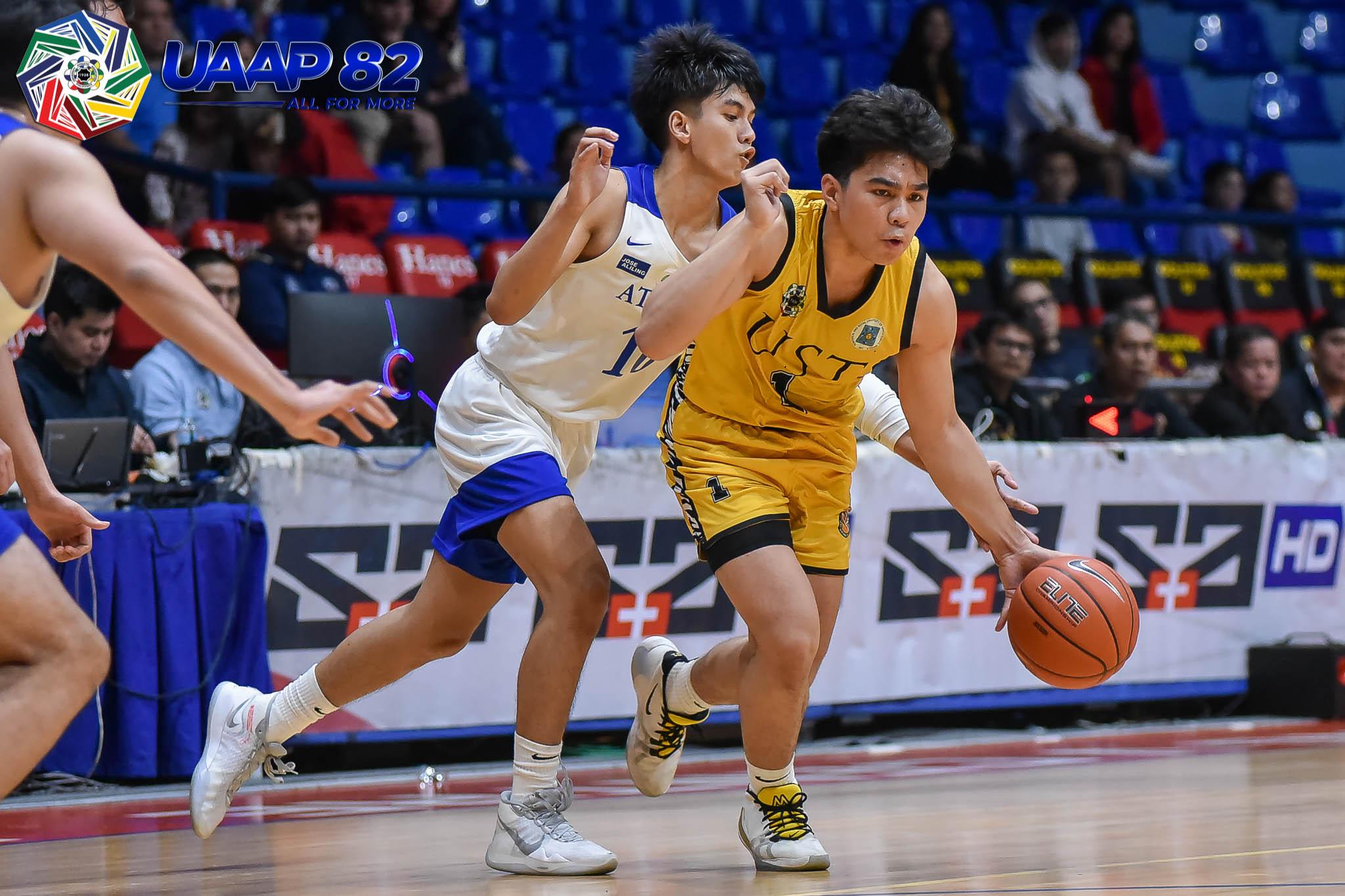 UAAP-82-Jrs-ADMU-vs.-UST-Cortez-6851 Fortea, Figueroa, Estacio lead crack UAAP HS class of '21 ADMU Basketball FEU News NU UAAP UP UST  - philippine sports news