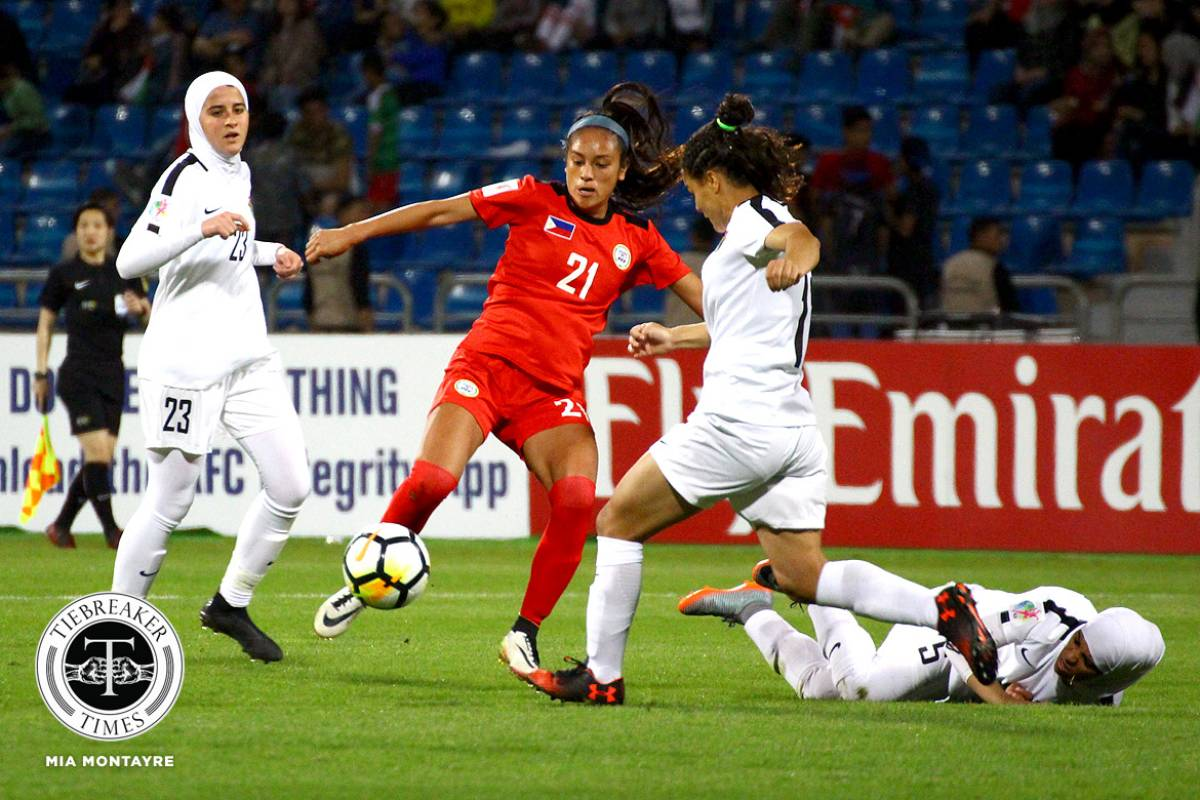 Philippine-womens-national-football-team-Jessica-Miclat-vs-Jordan-1 Five PWNFT members continue pro careers overseas with new clubs Football News  - philippine sports news