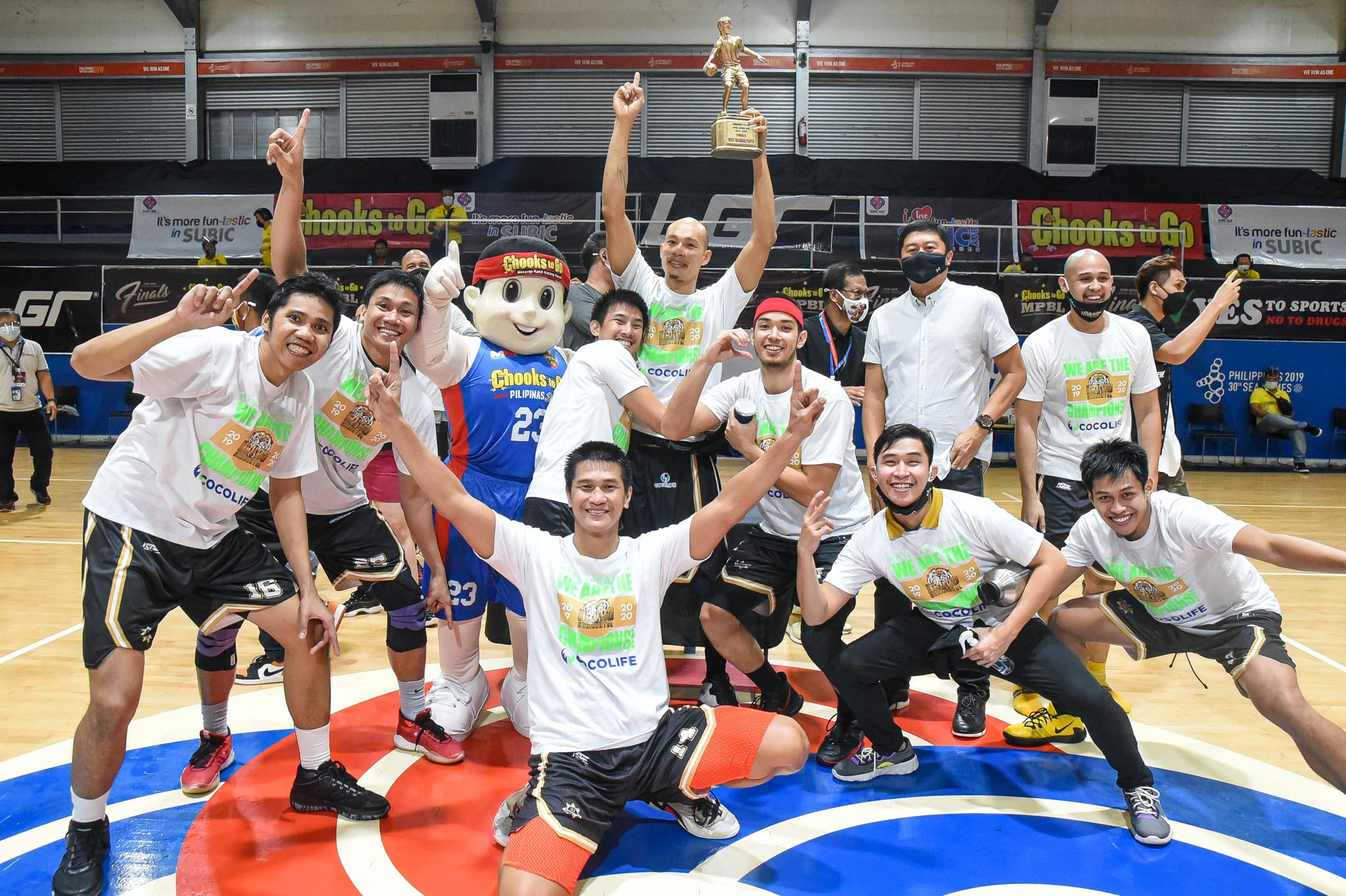 2021-Chooks-to-Go-MPBL-Lakan-Finals-Game-Four-Davao-Occidental-vs-San-Juan-Tigers-celebration-4 Mark Yee says Finals win over San Juan was not about payback Basketball MPBL News  - philippine sports news