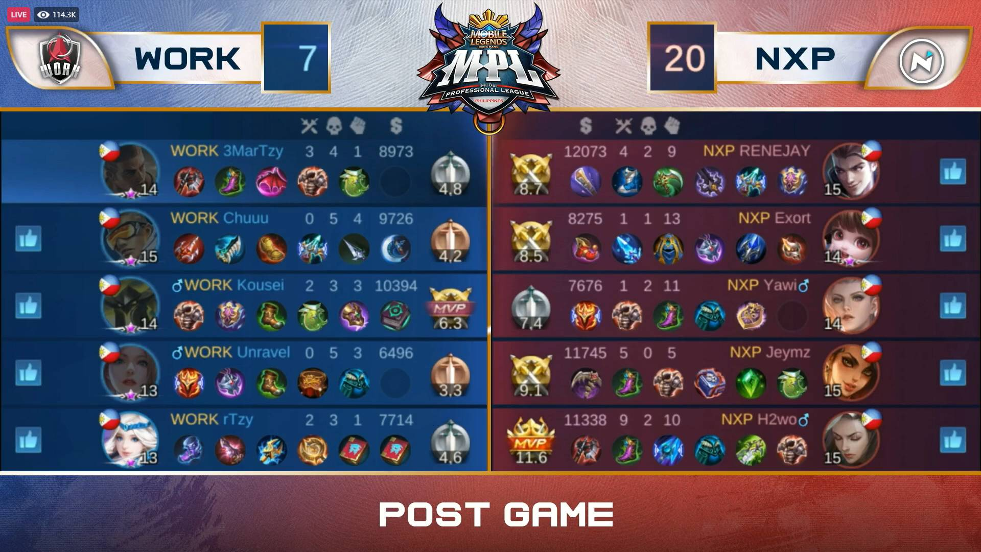 MPL-PH-7-Work-Auster-def-Nexplay-Game-1 Work Auster notches first-ever MPL-PH win, shocks Nexplay ESports Mobile Legends MPL-PH News  - philippine sports news