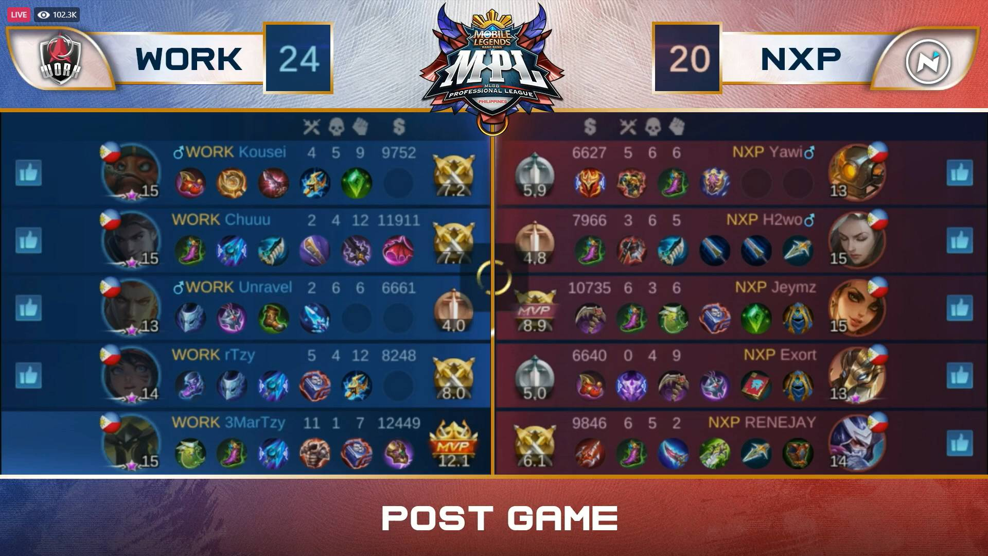 MPL-PH-7-Work-Auster-def-Nexplay-Game-2 Work Auster notches first-ever MPL-PH win, shocks Nexplay ESports Mobile Legends MPL-PH News  - philippine sports news