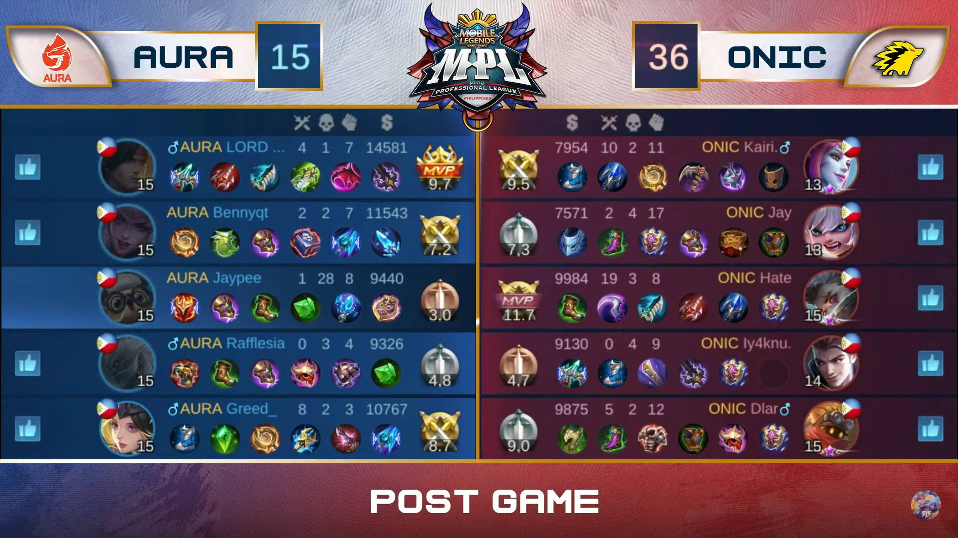 MPL-PH-7-Aura-def-ONIC-Game-1 Jaypee displays new facet, leads Aura past rivals ONIC in MPL PH ESports Mobile Legends MPL-PH News  - philippine sports news