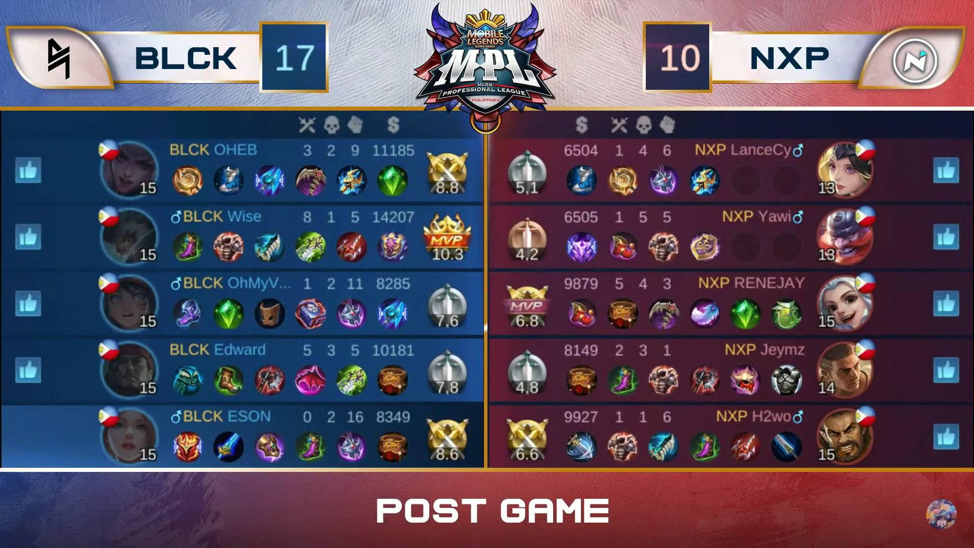 MPL-PH-7-Blacklist-def-NXP-Game-1 OHEB shines bright as Blacklist makes short work of Nexplay in MPL-PH ESports Mobile Legends MPL-PH News  - philippine sports news