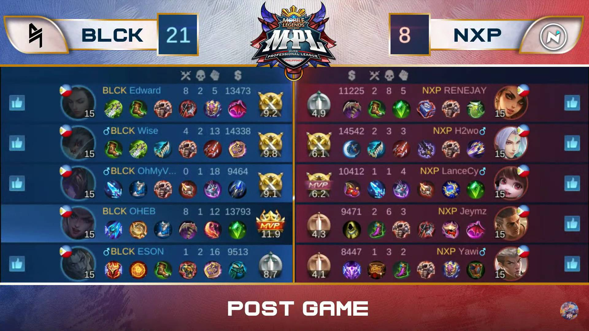 MPL-PH-7-Blacklist-def-NXP-Game-2 OHEB shines bright as Blacklist makes short work of Nexplay in MPL-PH ESports Mobile Legends MPL-PH News  - philippine sports news