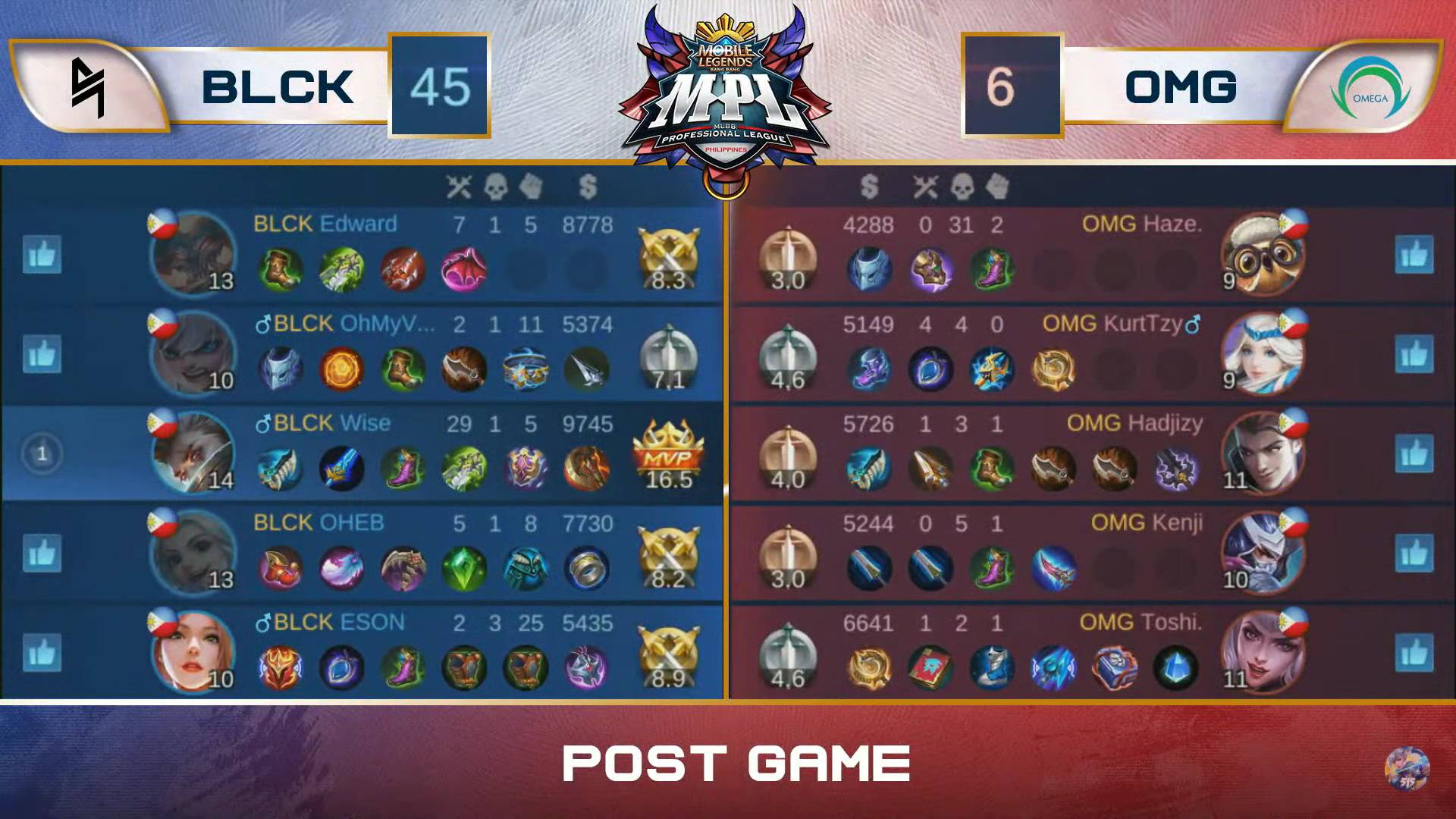 MPL-PH-7-Blacklist-def-Omega-Game-3 Blacklist remains unblemished, deals Omega third straight loss in MPL-PH ESports Mobile Legends MPL-PH News  - philippine sports news