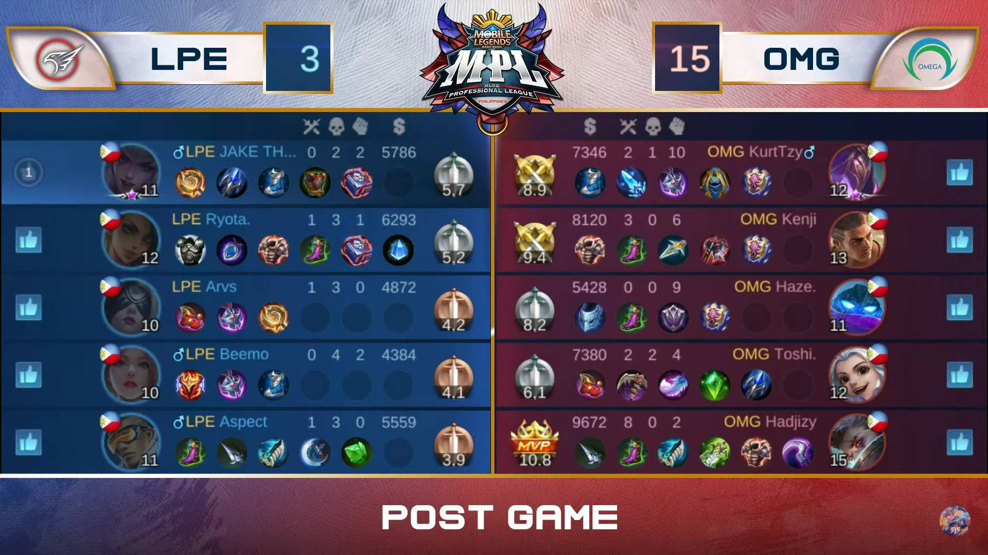 MPL-PH-7-Playbook-def-Omega-Game-2 Beemo plays hero as Playbook shocks Omega for second win in MPL-PH ESports Mobile Legends MPL-PH News  - philippine sports news
