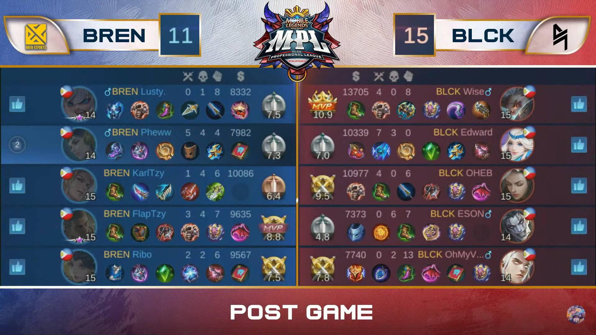 MPL-PH-Season-7-Bren-def-Blacklist-Game-1 Lusty clutch knock-up triggers Bren's statement comeback vs Blacklist in MPL PH ESports Mobile Legends MPL-PH News  - philippine sports news