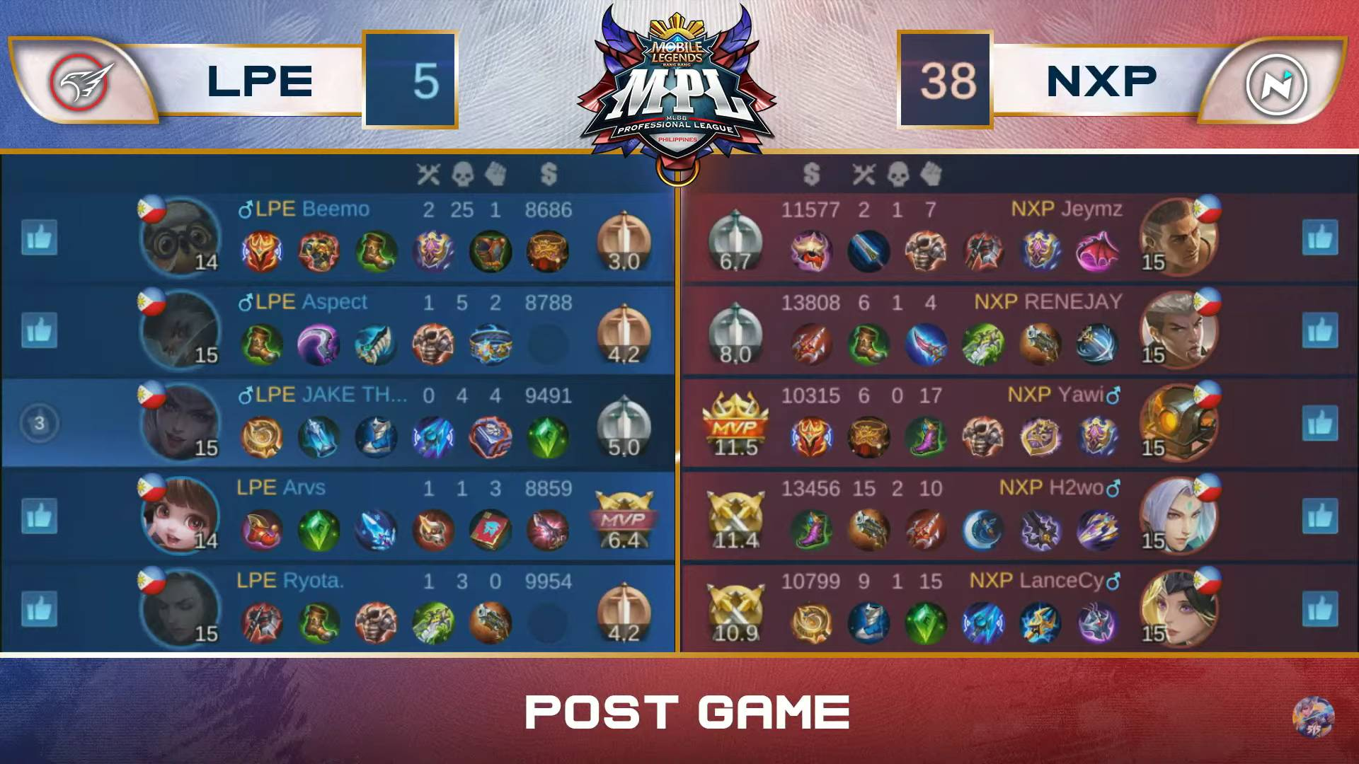 MPL-PH-Season-7-NXP-def-Playbook-Game-3 RENEJAY sits out Game 1 vs Playbook, then leads NXP to dramatic win in MPL-PH ESports Mobile Legends MPL-PH News  - philippine sports news