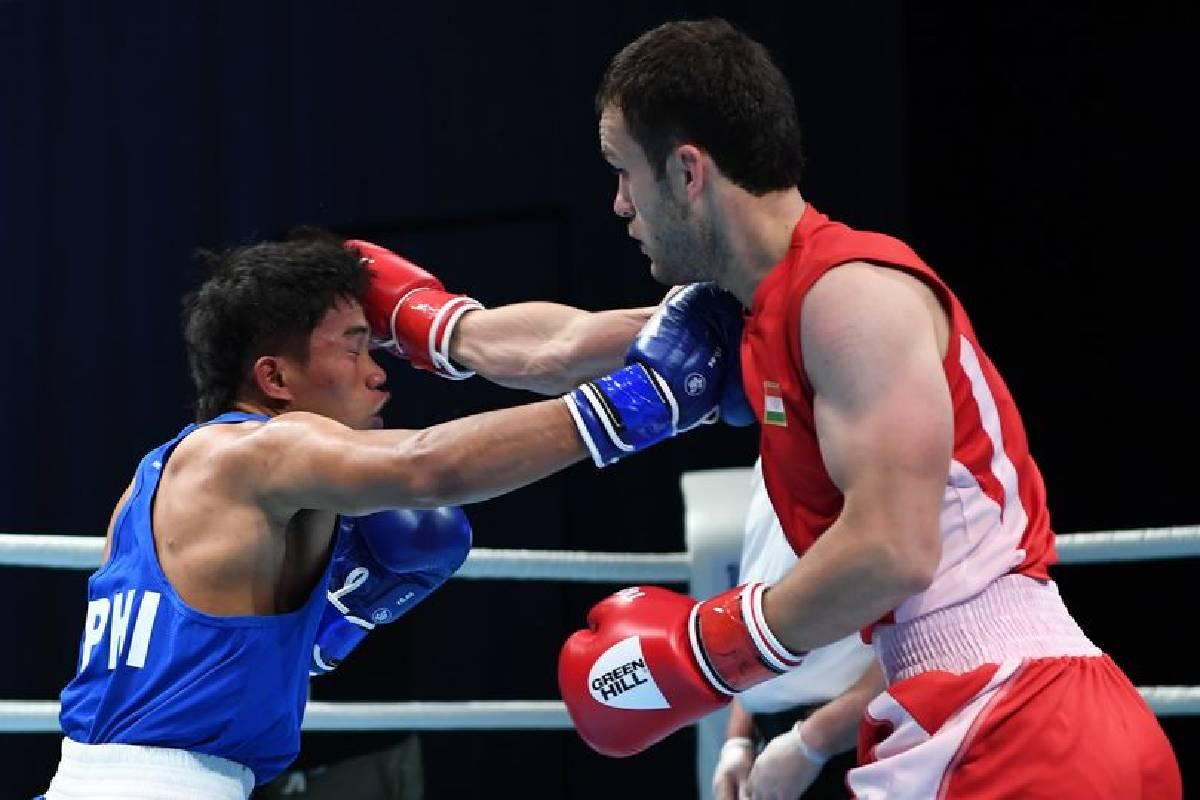 2021-Asian-Elite-Boxing-Bakhodur-Usmonov-def-John-Paul-Panuayan Durens, Ogayre assured of Asian Elite bronze after sensational wins Boxing News  - philippine sports news