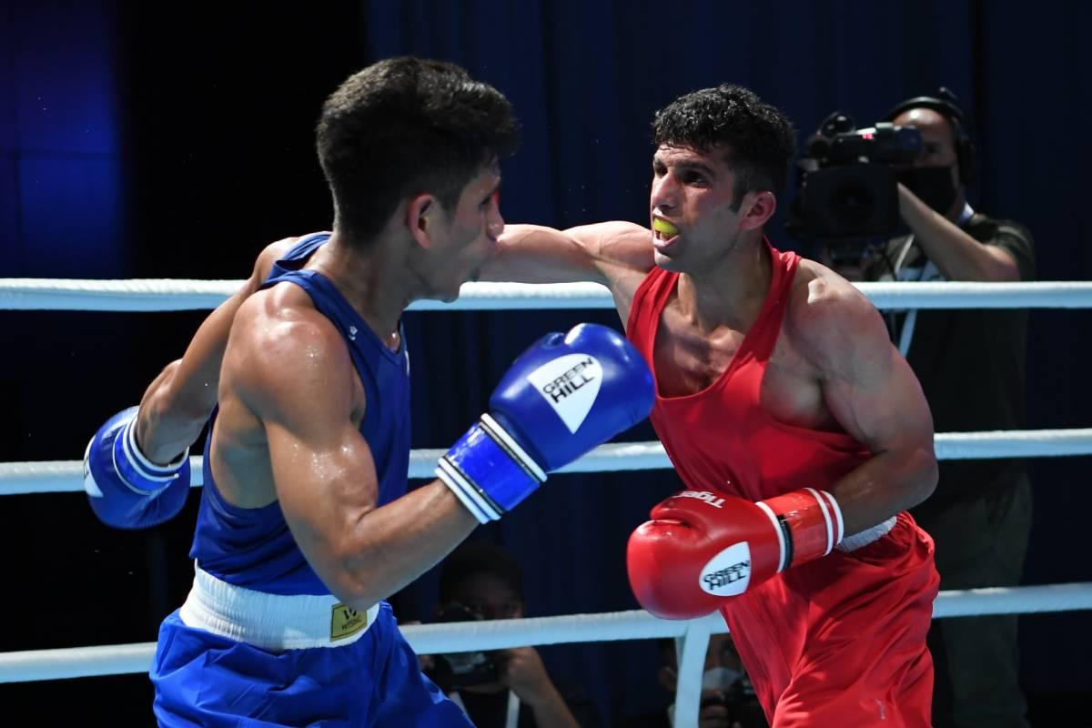 2021-Asian-Elite-Boxing-Rahmani-def-Marvin-Tabamo Panuayan, Dela Cruz advance in Asian Elite as Tabamo bows out Boxing News  - philippine sports news