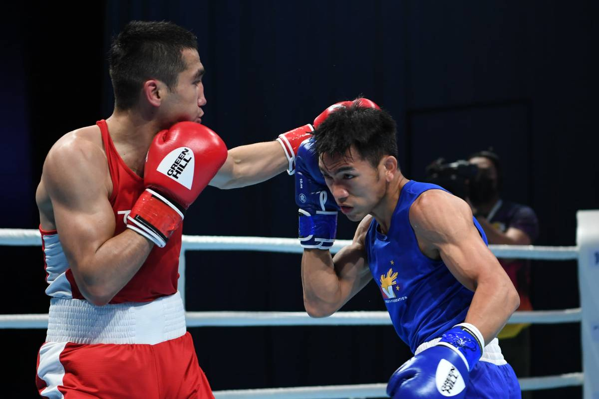2021-Asian-Elite-Mirzakhalilov-def-Ogayre Marcial stunned in Asian Elite as Team Pilipinas end campaign Boxing News  - philippine sports news