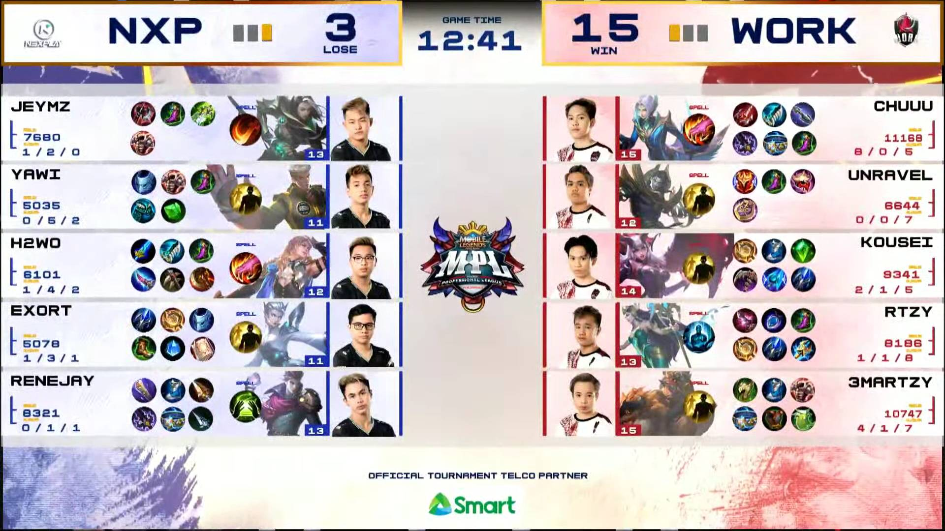 MPL-PH-7-Work-Auster-def-NXP-Game-2 Kousei's Esmeralda takes charge in clincher as Work Auster boots out Nexplay in MPL ESports Mobile Legends MPL-PH News  - philippine sports news