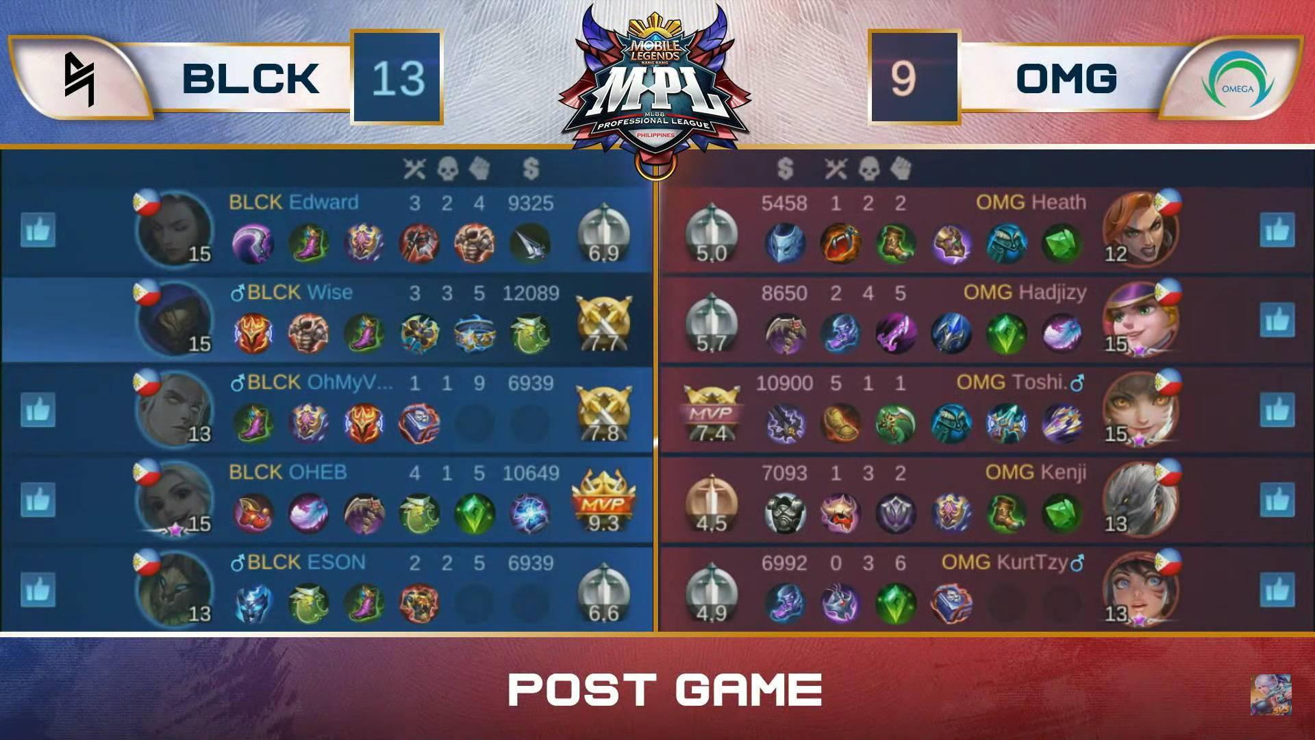 MPL-PH-Season-7-Blacklist-def-Omega-Game-1 Blacklist shocks Omega with Aldous, rises to 10-1 in MPL PH ESports Mobile Legends MPL-PH News  - philippine sports news