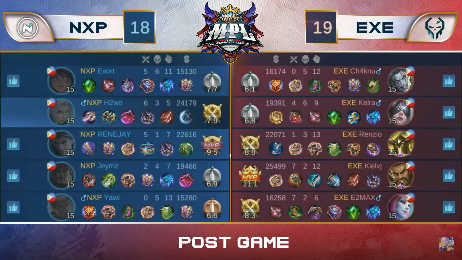 MPL-PH-Season-7-Nexplay-def-Execration-Game-1 Yawi's Akai plays big as Nexplay deals Execration fifth straight loss in MPL PH ESports Mobile Legends MPL-PH News  - philippine sports news