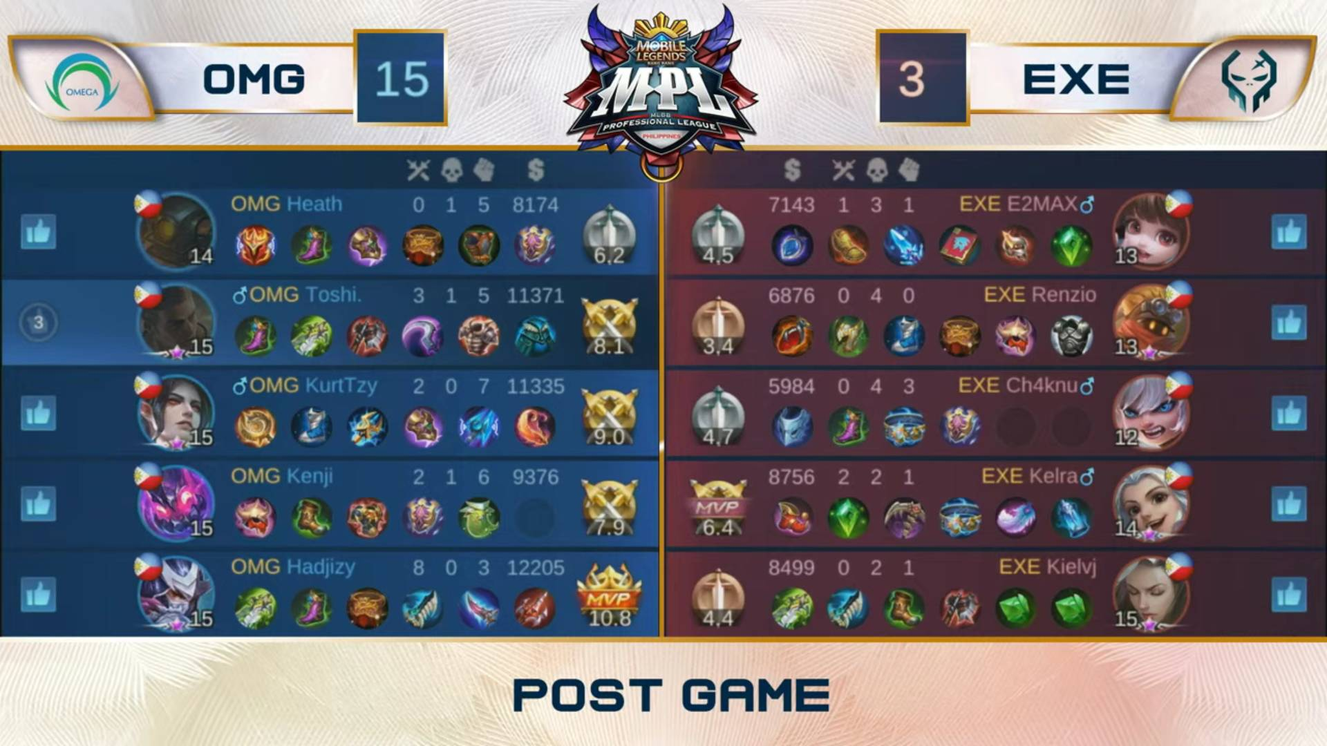 MPL-PH-Season-7-lower-bracket-Execration-def-Omega-Game-2 Kelra goes ham vs Omega as Execration's unorthodox game sets up showdown with Bren ESports Mobile Legends MPL-PH News  - philippine sports news