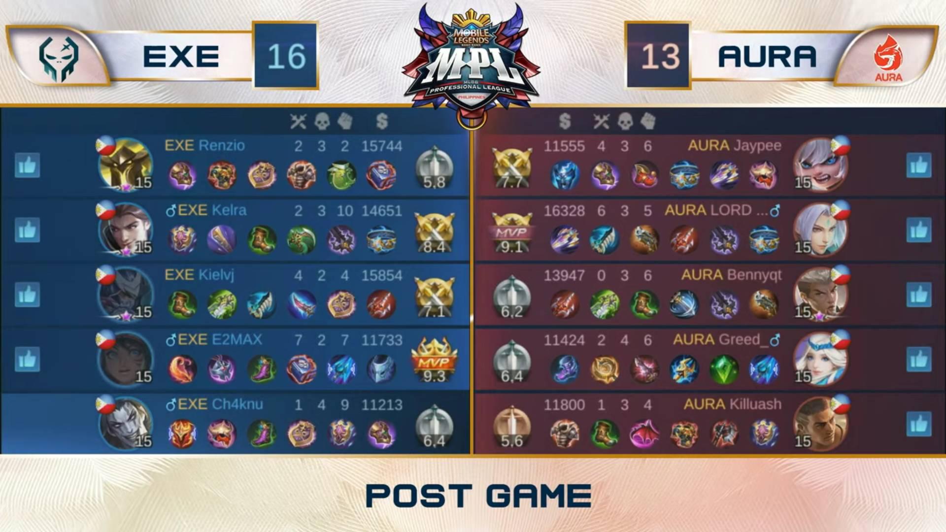 MPL-PH-Season-7-semis-Execration-def-Aura-PH-Game-1 Kielvj gets back at Aura PH as Execration ends MPL PH Finals drought ESports Mobile Legends MPL-PH News  - philippine sports news