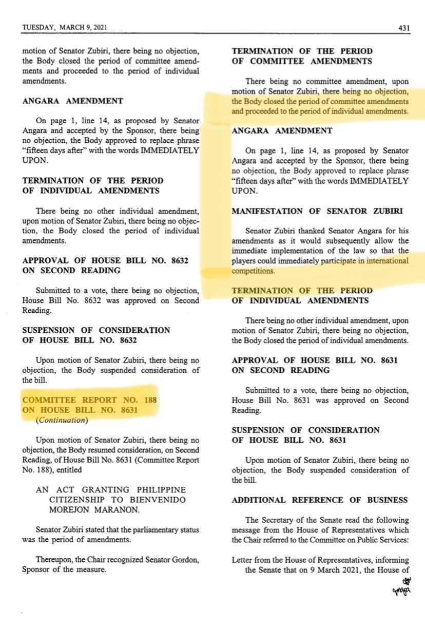 SB-1391-Amendment-Bienvenido-Maranon What happened to Bienve Maranon's naturalization? Football News Philippine Azkals  - philippine sports news