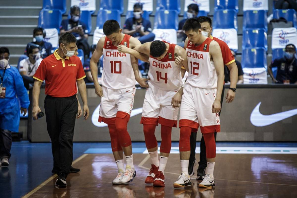 2021-fiba-asia-cup-qualifiers-china-def-chinese-taipei-Shen-Zijie. Du Feng commends Zhou Qi for brave stand vs Japan: 'This is for him' 2021 FIBA Asia Cup Basketball News  - philippine sports news