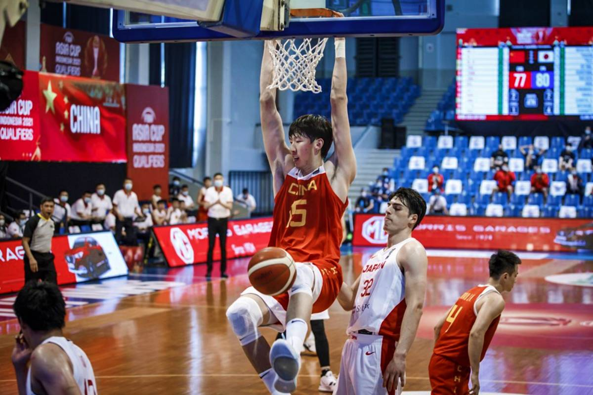2021-fiba-asia-cup-qualifiers-china-def-japan-zhou-qi-2 Kai Sotto to face China towers Zhou, Liu in NBL Basketball News  - philippine sports news