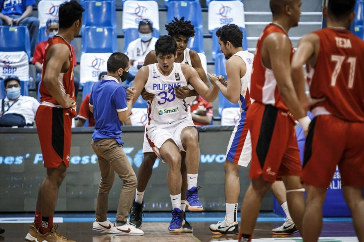 2021-fiba-asia-cup-qualifiers-gilas-def-indonesia-Carl-Tamayo Tamayo making good progress, still questionable for China tune-up 2020 Tokyo Olympics Basketball Gilas Pilipinas News  - philippine sports news