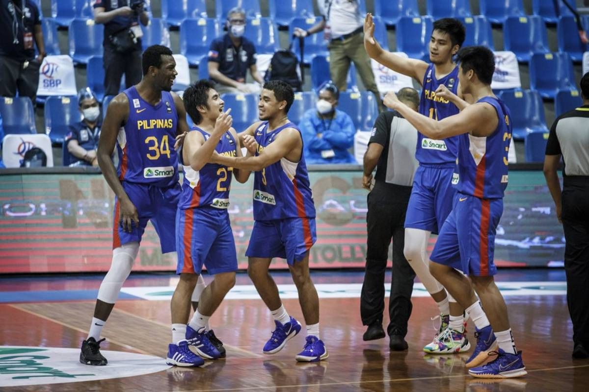 2021-fiba-asia-cup-qualifiers-gilas-vs-korea-SJ-Belangel-celebration Baldwin hopes fans were around to enjoy Belangel's miracle 2021 FIBA Asia Cup Basketball Gilas Pilipinas News  - philippine sports news
