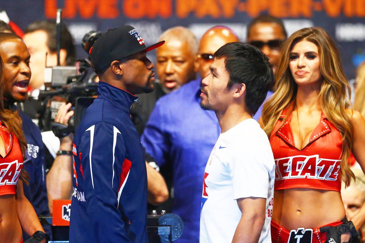 Mayweather-vs-Pacquiao-weight-in Manny Pacquiao calls it a career: 'Tapos na' Boxing News  - philippine sports news