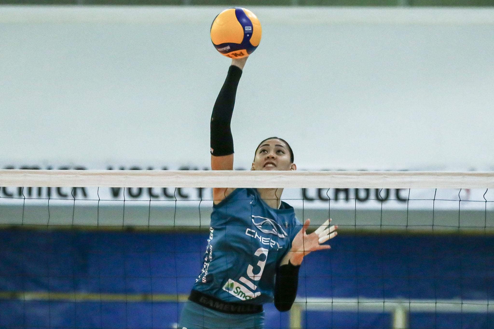 2021-PVL-Open-Chery-Tiggo-vs-Creamline-Jaja-Santiago Jaja Santiago on facing Alyssa Valdez again: 'Nakaka-miss' News PVL Volleyball  - philippine sports news