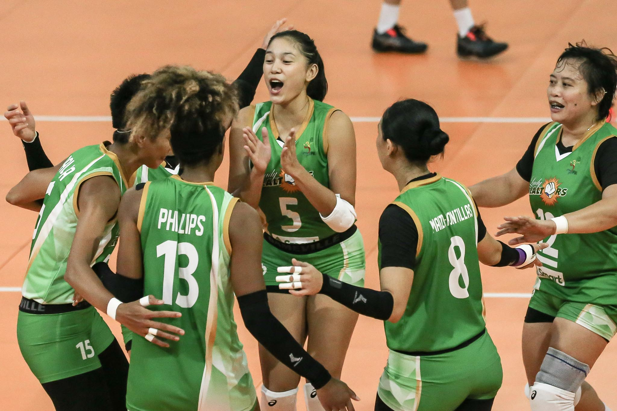 2021-PVL-Open-Conference-PLDT-vs-Sta.-Lucia-Mika-Reyes-x-Rubie-De-Leon Sta. Lucia made sure to utilize Reyes, Palomata vs PLDT News PVL Volleyball  - philippine sports news