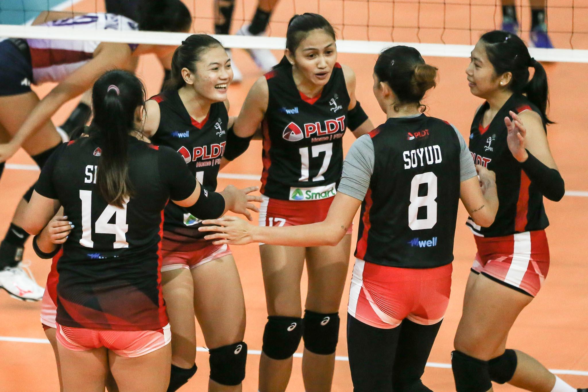 2021-PVL-Open-PLDT-vs-Choco-Mucho-Isa-Molde-x-Joyce-Sta-Rita-x-Rhea-Dimaculangan Gorayeb likens PLDT to early Fab 5-era Ateneo: 'Puro bata kami' News PVL Volleyball  - philippine sports news