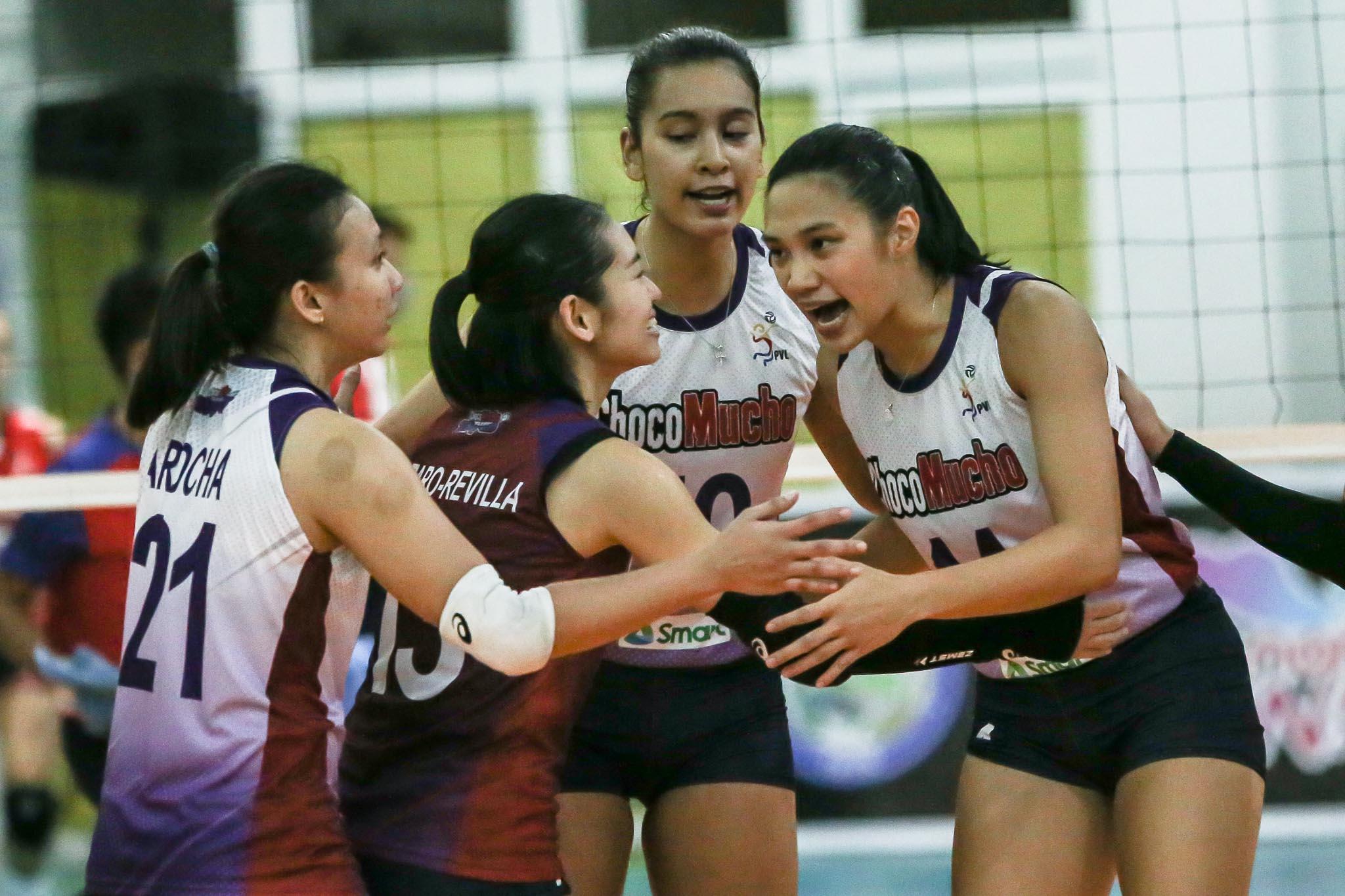 2021-PVL-Open-PLDT-vs-Choco-Mucho-Regine-Arocha-x-Denden-Lazaro-x-Kat-Tolentino-x-Bea-De-Leon Kat Tolentino believes having Ateneo core in Choco Mucho is their advantage News PVL Volleyball  - philippine sports news