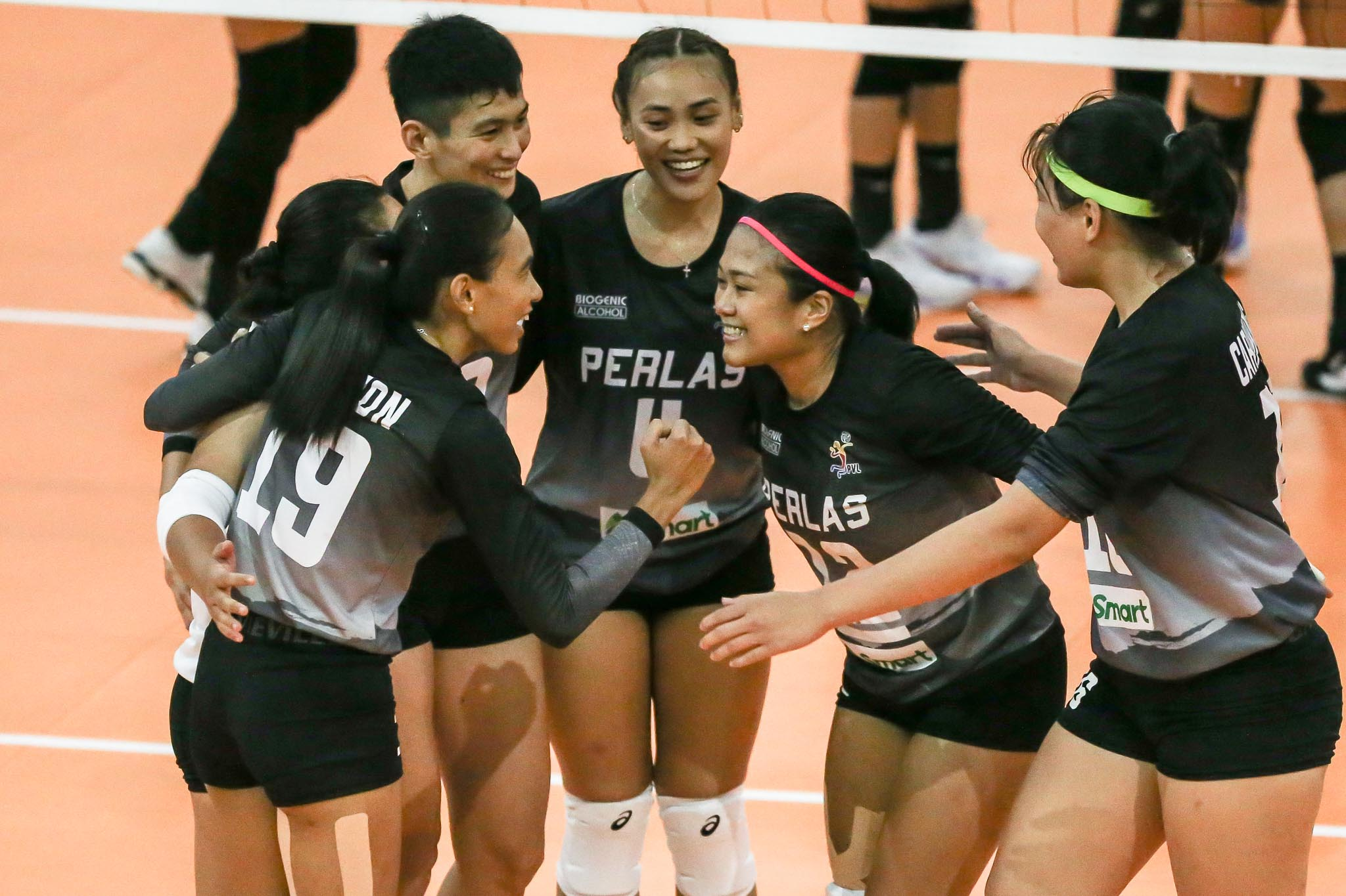 2021-PVL-Open-Perlas-vs-Choco-Mucho-Nicole-Tiamzon-x-Jellie-Tempiatura-x-Sue-Roces-x-Heather-Guino-o-x-Jem-Ferrer-x-Cza-Caranding Jem Ferrer vows Perlas will 'make their sacrifices worth it' News PVL Volleyball  - philippine sports news