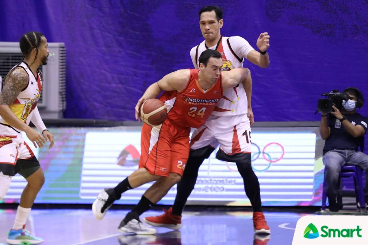 2021-pba-philippine-cup-san-miguel-vs-northport-greg-slaughter-vs-june-mar-fajardo Jarencio more confident now vs SMB: 'Meron na kaming panapat kay June Mar' Basketball News PBA  - philippine sports news
