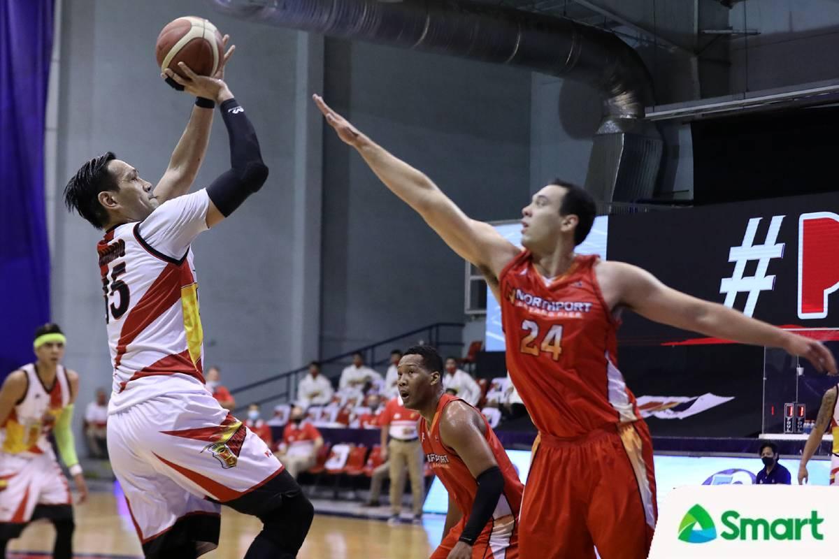 2021-pba-philippine-cup-san-miguel-vs-northport-june-mar-fajardo-vs-greg-slaughter Romeo leads scorers as two NorthPort players top three PBA PH cats Basketball News PBA  - philippine sports news