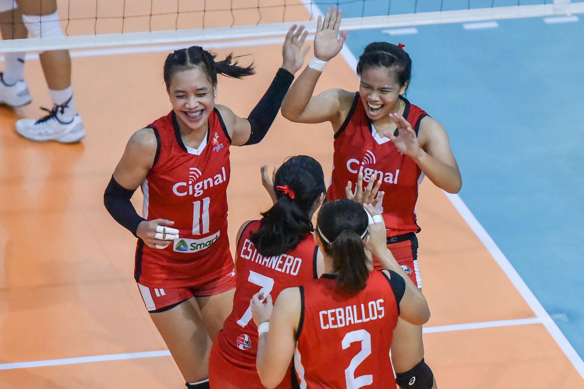 2021-PVL-Open-Cignal-vs.-Creamline-Roselyn-Doria-Klarissa-Abriam-5634 Shaq Delos Santos hopes for 'good ending' for also-ran Cignal News PVL Volleyball  - philippine sports news