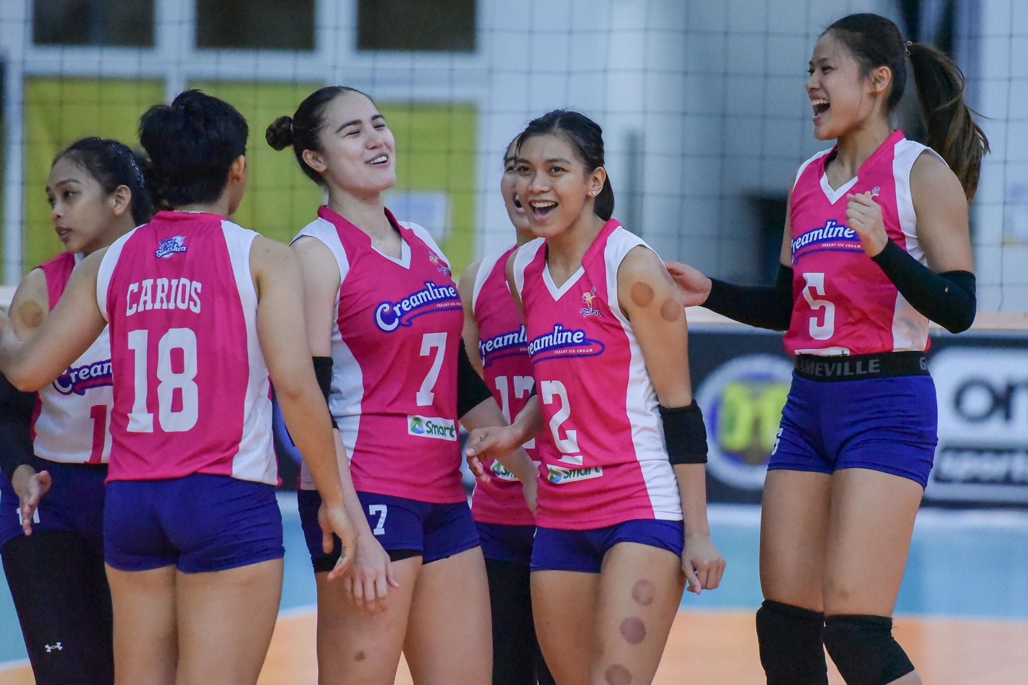 2021-PVL-Open-Creamline-vs.-Choco-Mucho-Michele-Gumabao-Alyssa-Valdez-7777 Almadro says Choco Mucho lacked 'maturity' in Creamline loss News PVL Volleyball  - philippine sports news
