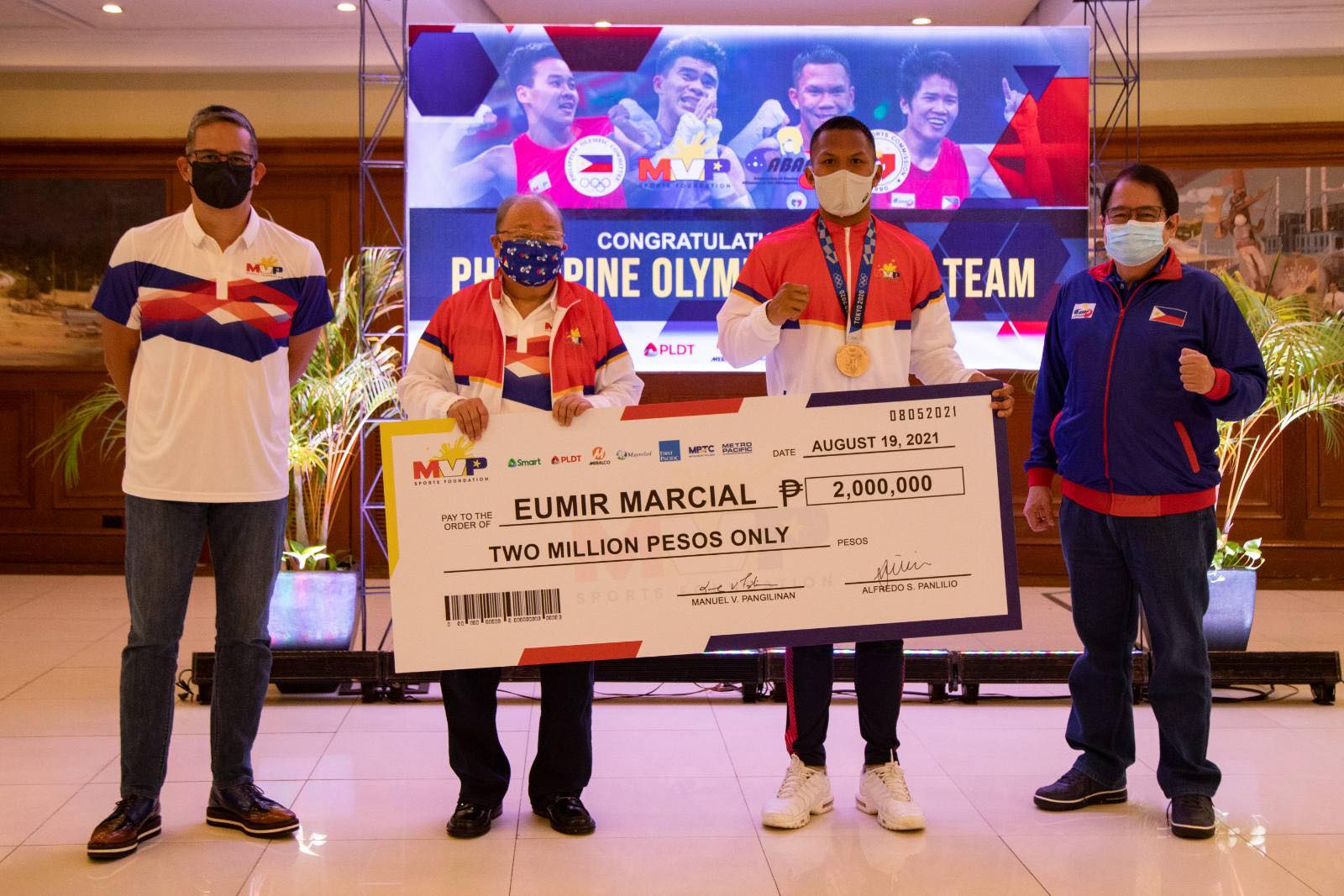Tokyo-2020-MVPSF-Eumir-Marcial MVPSF rewards ABAP boxers for historic Tokyo campaign 2020 Tokyo Olympics Boxing News  - philippine sports news