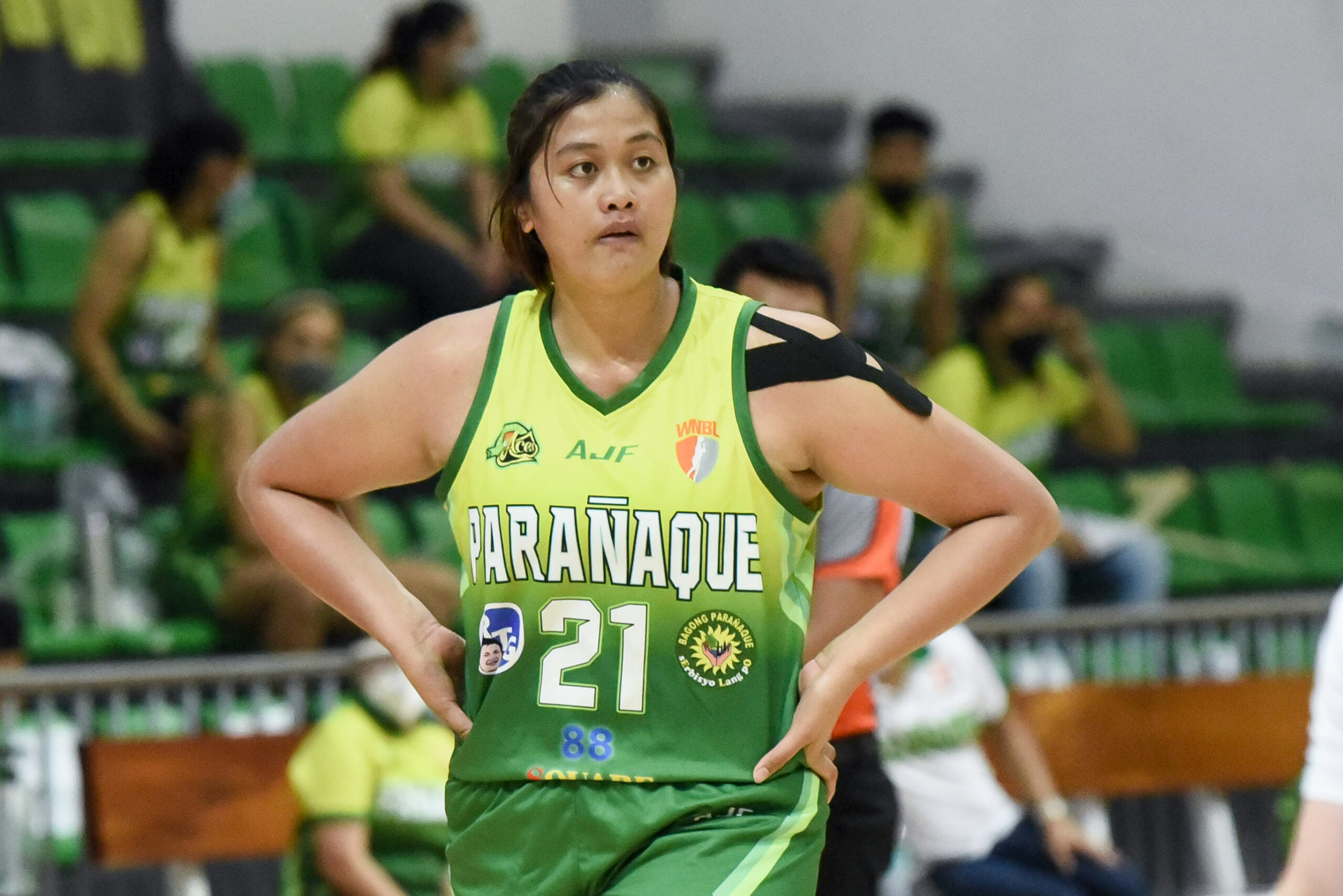 2021-PIA-WNBL-Pacific-Water-vs-Paranaque-Clare-Castro-scaled Clare Castro admits feeling pressure in being Gilas Women's sole center Basketball Gilas Pilipinas News  - philippine sports news