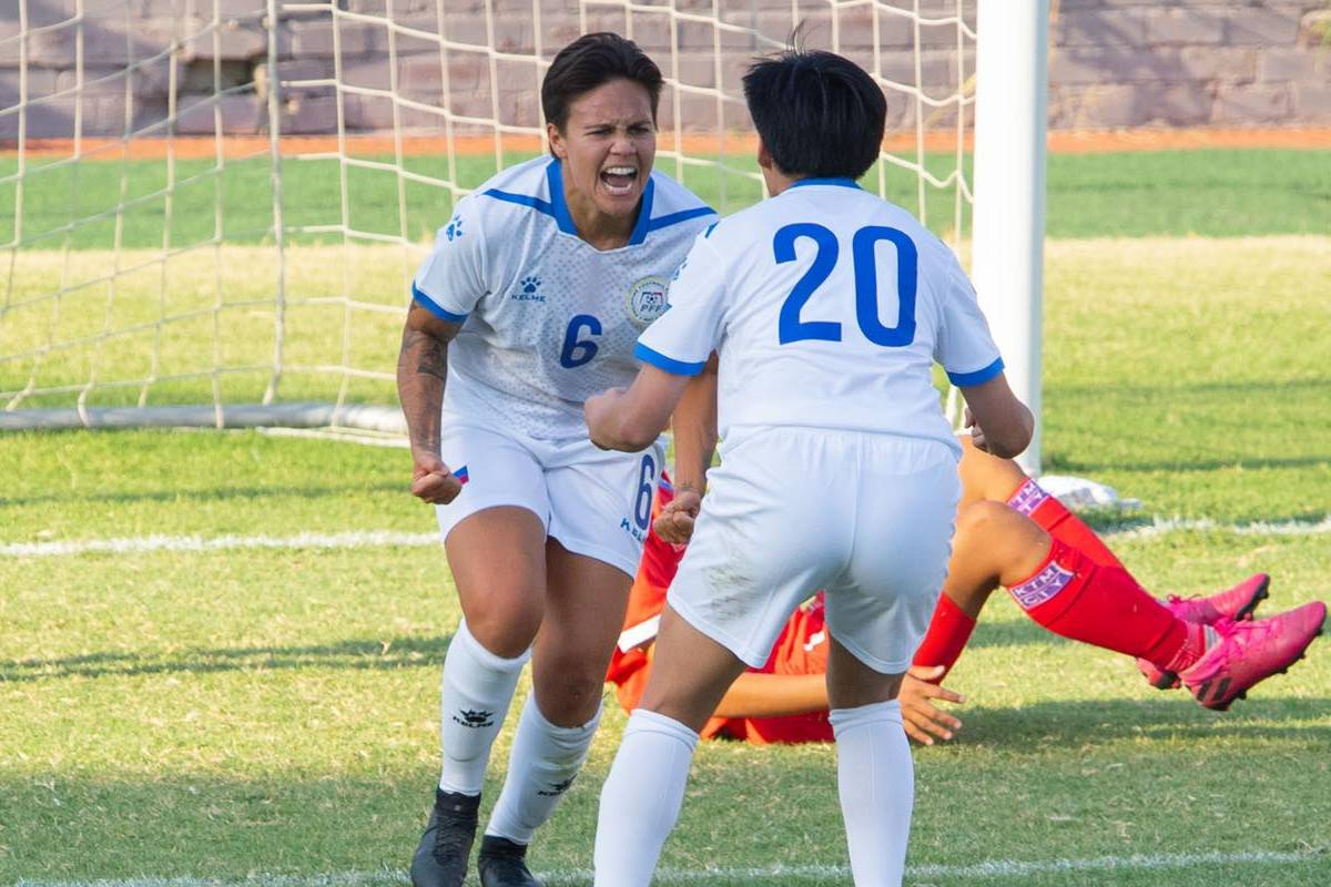 2022-AFC-Womens-Asian-Cup-qualifiers-Philippines-def-Nepal-Tahnai-Annis Asian Cup Qualifiers: Wilson's goal at the death completes PWNFT comeback vs Nepal Football News Philippine Malditas  - philippine sports news
