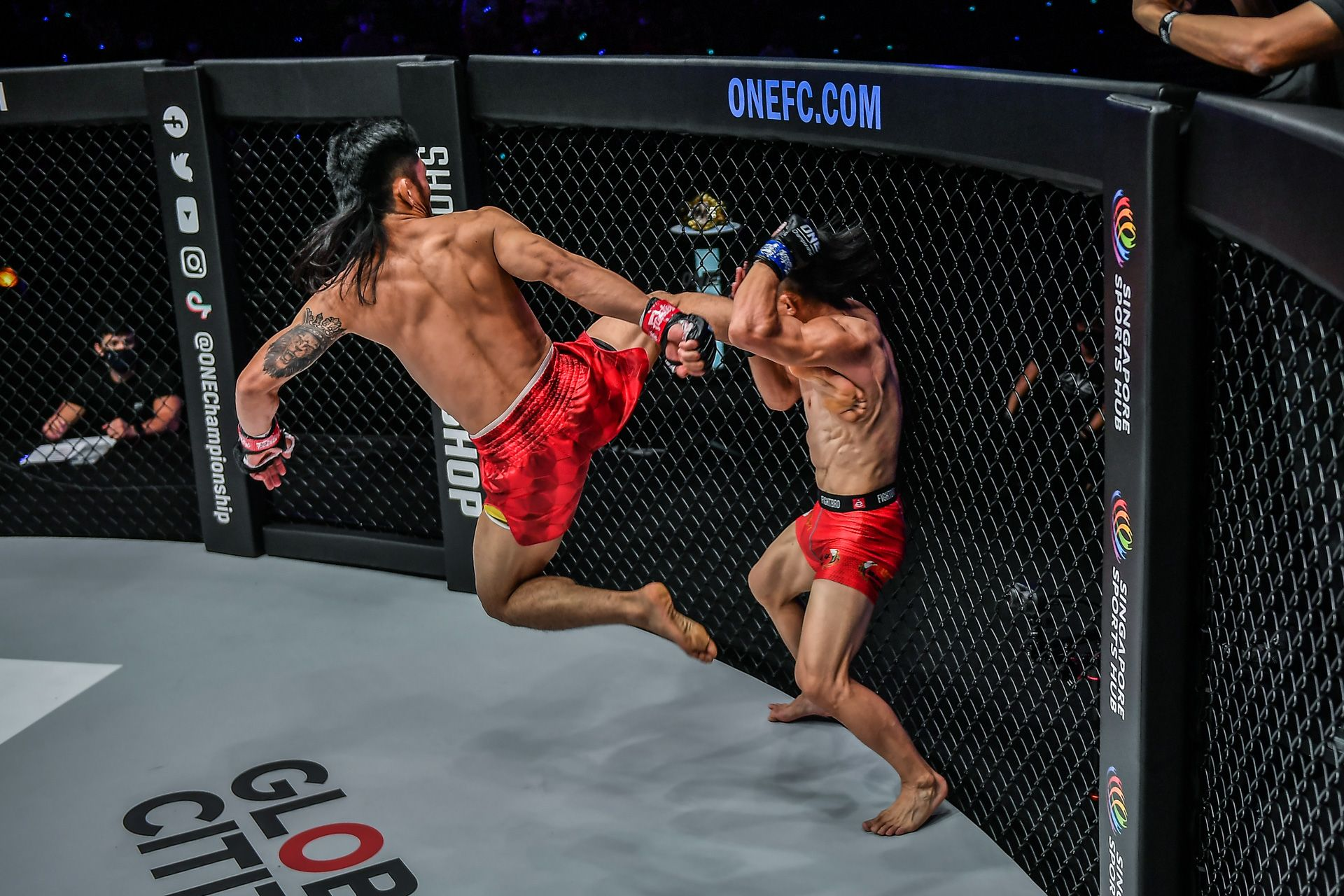 ONE-Revolution-Adiwang-flying-kick-to-Hexigetu Adiwang on Brooks: 'He's just an unlucky guy who talks and acts like a monkey' Mixed Martial Arts News ONE Championship  - philippine sports news