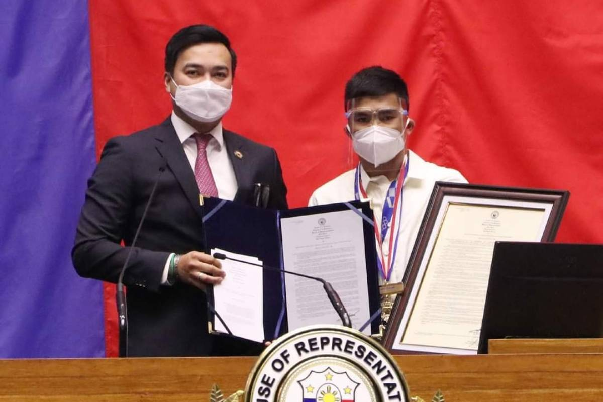 Tokyo-2020-Congress-Lord-Velasco-x-Carlo-Paalam Congress gives Medal of Excellence to Hidilyn Diaz 2020 Tokyo Olympics Boxing News Weightlifting  - philippine sports news
